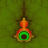 Mandelbrot in Orange and Green