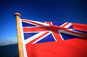 British Maritime Red Ensign Flag Blue Sky