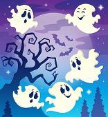 Halloween Thema Bild 6 - eps10-Vektor-Illustration.