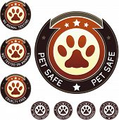 picture of animal cruelty  - Pet safe cruelty free and no animal testing product and food label stickers  - JPG