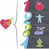 foto of plaque  - Healthy lifestile  Good sleep - JPG