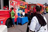 Cameraman Shoots Reporter Interviewing Food Truck Employee In Atlanta