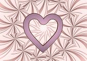 Illustration Of A Beautiful Heart Icon  On Vintage Backgrond