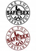 Safe Sex Rubber Stamp