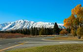 picture of long winding road  - Autumn road - JPG