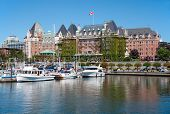 VICTORIA, BRITISH COLUMBIA, CANADA - JULY 7: The Fairmont Empress Hotel facade on July 7, 2013 in Vi