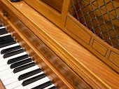 Piano With Decorative Top