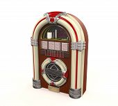 stock photo of jukebox  - Juke Box Radio Isolated on white background - JPG