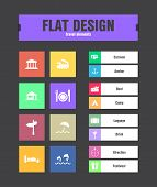 picture of passport template  - special flat ui icons for web and mobile applications - JPG