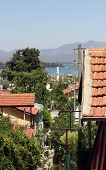 A scenic view of Fethiye housing in Turkey