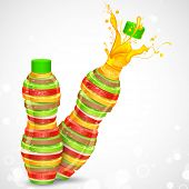 illustration of juice bottle made of fresh fruit