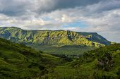 stock photo of veld  - Dramatic view of the hills of the Drakensberg Range in the Giants Castle Game Reserve KwaZulu - JPG