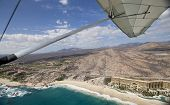 pic of float-plane  - los cabos in baja califonia sur mexico shot from the air in a light aircraft - JPG