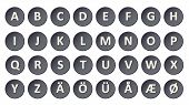 Alphabet - Buttons Anthracite
