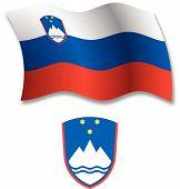 Slovenia Textured Wavy Flag Vector