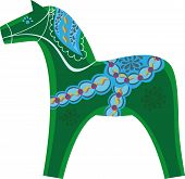 picture of swagger  - symbol of the year Swedish souvenir green horse - JPG