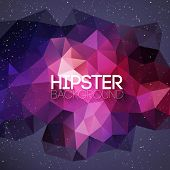 Hipster background made of triangles and space