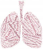 foto of pharyngitis  - Word cloud World Tuberculosis Day related - JPG