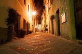 Narrow Alley, Pienza Italy
