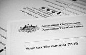 Постер, плакат: Australian Individual Tax Return Form