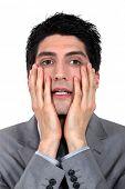 Anxious businessman