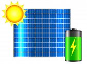 foto of solar battery  - Clean energy - JPG