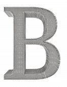 Chain Link Steel Alphabet - B