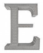 Chain Link Steel Alphabet - E