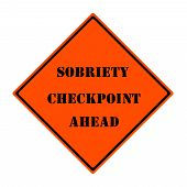 Security Checkpoint Ahead Sign