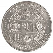 One Bhutanese Ngultrum Coin