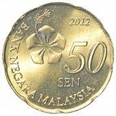 50 Malaysian Sen Coin