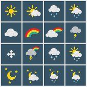image of meteoric rain  - Wheather icons  - JPG