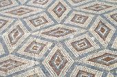 Mosaic in the Roman ruins of Conimbriga, Las Beiras, Portugal