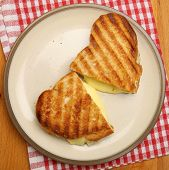 Toasted sandwich with cheese.