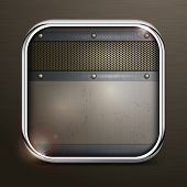 Metal Square Border Icon