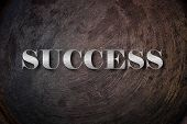 Success text on Background