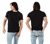 Man Wearing Blank Black Shirt