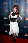 NEW YORK-AUG 6: Rock violinist Lindsey Stirling attends the 'America's Got Talent' post show red carpet at Radio City Music Hall on August 6, 2014 in New York City.