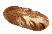 A Delicious Rye Bread Isolated On White Background