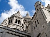Gothic architecture of Sacre Coeur Basilica.