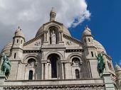 Sacre Coeur Basilica, looking up.