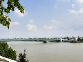 picture of bonnes  - Image of Kennedy bridge in Bonn Germany - JPG