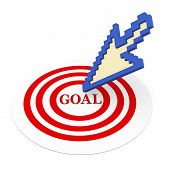 3D Mouse Pointer On Goal Target