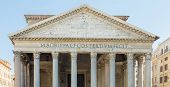 Pantheon In Rome With Blue Sky