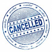 Grunge Cancelled Rubber Stamp