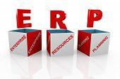 3D Box Of Erp - Enterprise Resource Planning