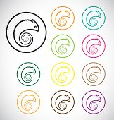 Vector Images Of Chameleon In A Circle