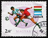 Postage Stamp Hungary 1978 Soccer Players