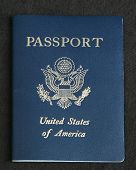Passport On A Dark Gray Background