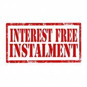 Interest Free Instalment-stamp